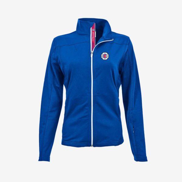 Blue Full Zip LA Clippers Ladies Jacket