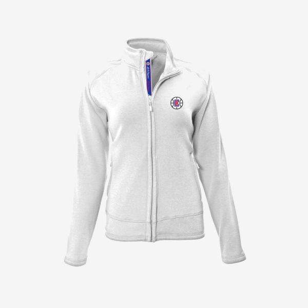 White LA Clippers Ladies Jacket