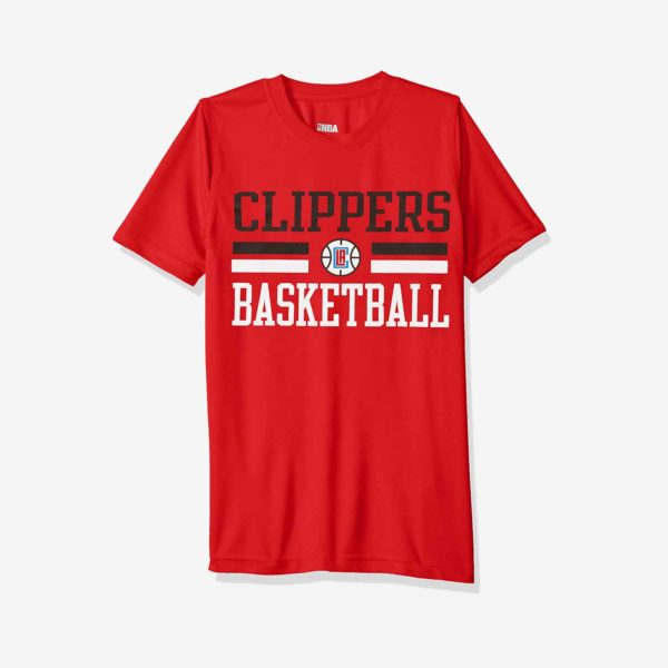 Red LA Clippers Youth T-Shirt