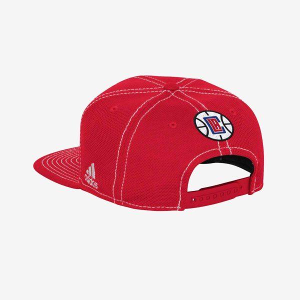 Red LA Clippers Flat Brim Hat