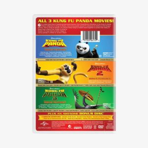 Kung Fu Panda 3-Movie Collection DVD Box Set 4 Disc