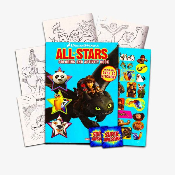 Dreamworks Giant Coloring Book with Stickers